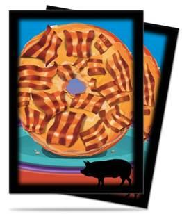 Novelty Food: Bacon Donut Deck Protectors (50)