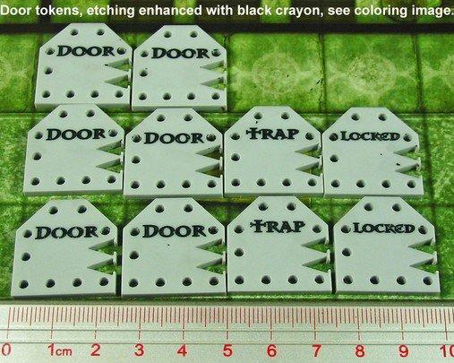 Tokens & Markers: Metal Door Tokens (10)