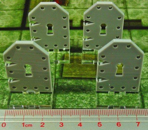 Tokens & Markers: Medium Metal Door Markers (4)
