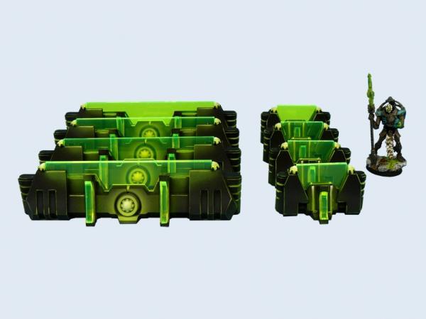 28mm Sci-Fi Terrain: Cyber Fortification Set