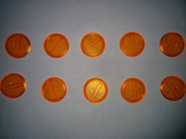 Malifaux: (Bases) Orange 30mm (10)