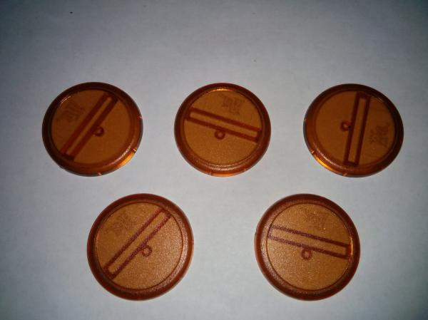 (Bases) Brown 40mm (5)