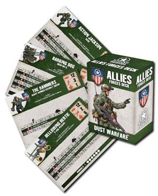 Dust Tactics - Allies: Warfare Cards
