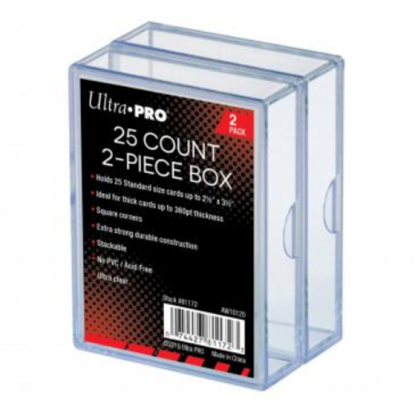Ultra-Pro: 2-Piece Clear Card Storage Box (2-Pack) (each box holds 25)