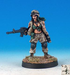 Black Scorpion Miniatures: Medic Girl (28mm)