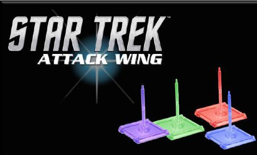 Star Trek Attack Wing: Dominion Faction Base/Pegs Set  (Purple)