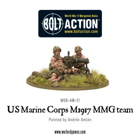Bolt Action: (USA) Marine Corps M1917 MMG team