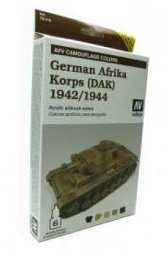 Model Air: AFV System Camouflage Colors German Afrika Korps (DAK) 1942-1944 Set