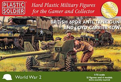 20mm WWII: 1/72nd British 6 PDR Anti -Tank Gun and Loyd Carrier Tow