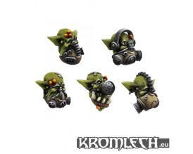 28mm Fantasy - Orcs: Heads in Gas Masks