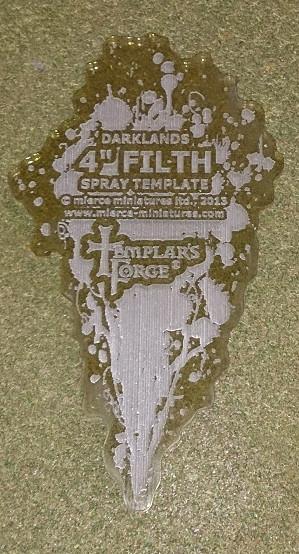 Darklands: 4'' Filth Spray Template