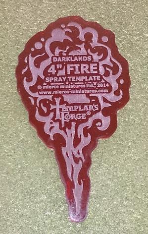 Darklands:  4'' Fire Spray Template