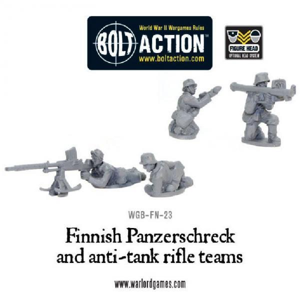 Bolt Action: (Finnish) Panzerschreck & Anti-Tank Rifle Team