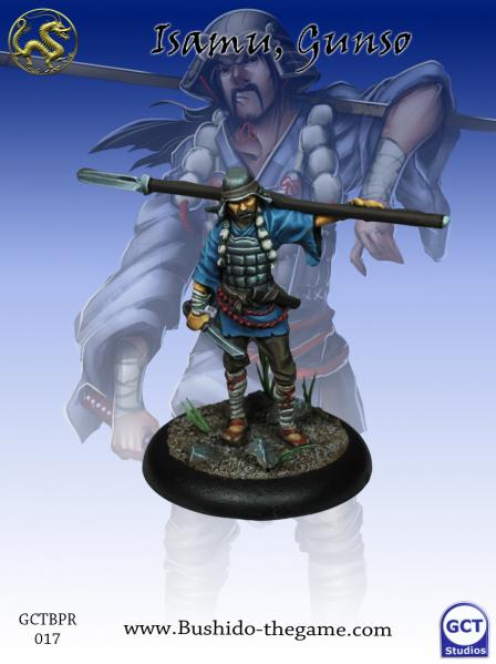 Bushido Miniatures: (Prefecture Of Ryu) Isamu, Goshi Gunso
