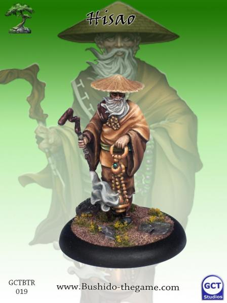 Bushido Miniatures: (Temple Of Ro-Kan) Hisao, Village Elder
