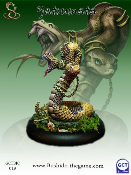 Bushido Miniatures: (Ito Clan) Yatsumata, Two Headed Snake