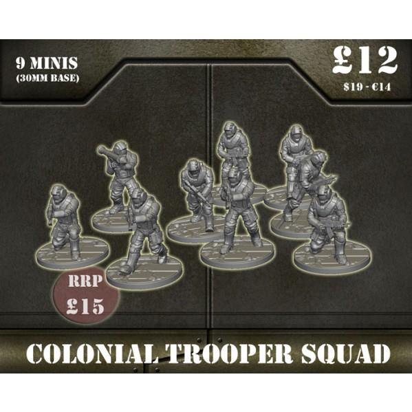 Sentinel Games: Colonial Troopers squad