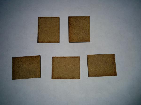 Bandua Accessories: 20mm x 25mm Bag of Bases (530)
