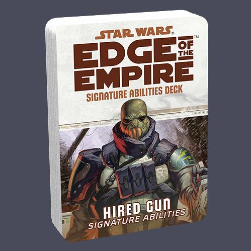 Edge of the Empire RPG: Signature Abilities Deck - Hired Gun
