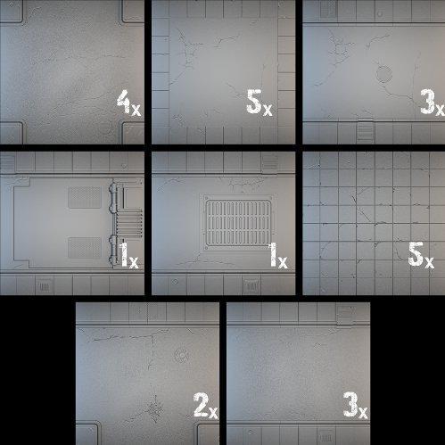 Tablescapes Tiles: Urban Streets, Clean (24 tile set)