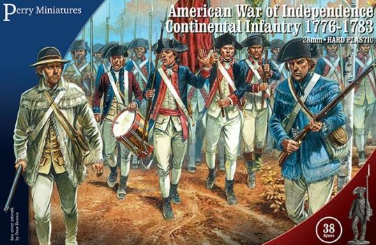 28mm American Revolution: (American) Continental Infantry, 1776-1783