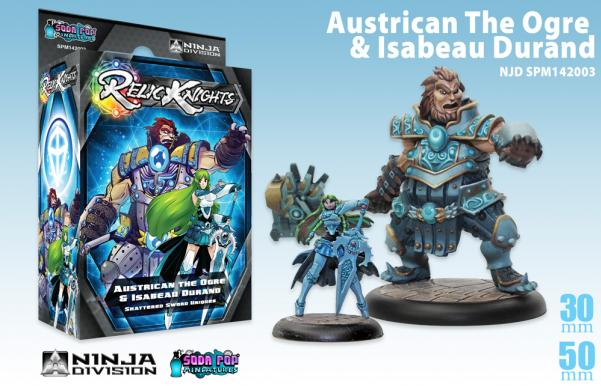 Relic Knights - Shattered Sword: Austrican the Ogre Isabeau Durand