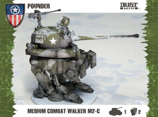 Dust Tactics - Allies: Medium Assault Walker, Pounder