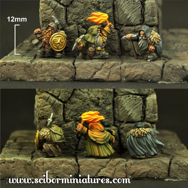 15mm Fantasy Miniatures: Dwarves Miners (3)