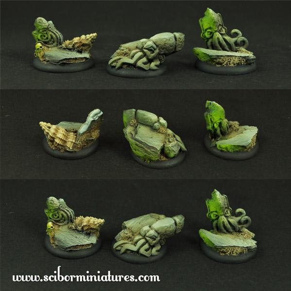 28mm Cthulhu Miniatures: 30mm Cthulhu Bases (3)
