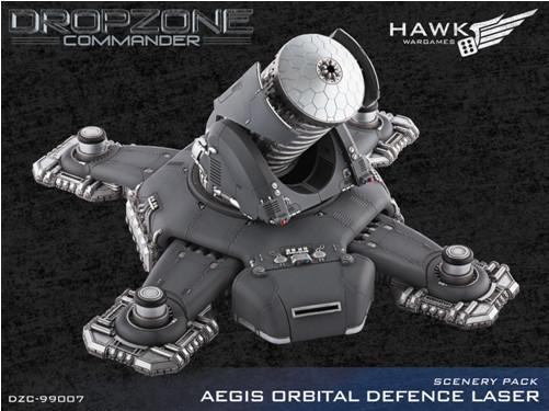 Dropzone Commander: Aegis Orbital Defense Laser Scenery Pack