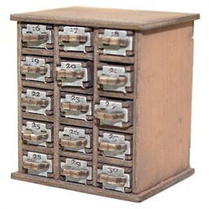 28mm Furniture: Light Wood Safety Deposit Box 16 -30