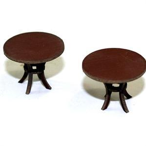 28mm Furniture: Medium Wood Round Tables