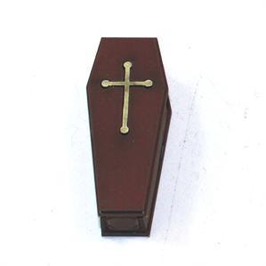 28mm Furniture: Medium Wood Coffin 1