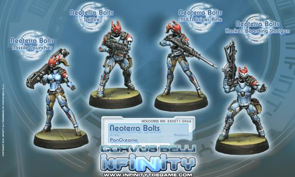 Infinity (#466) PanOceania: Neoterra Bolts