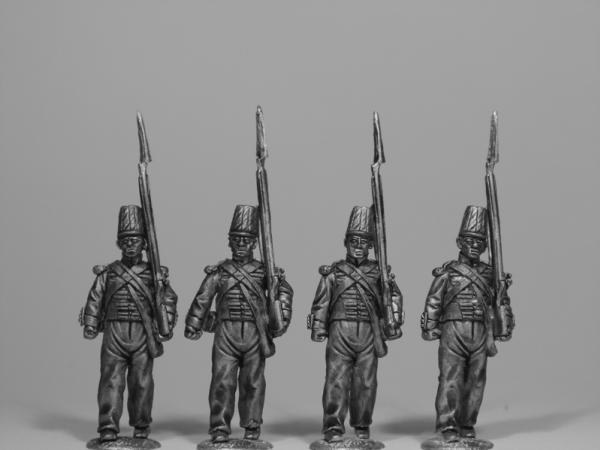 28mm Empire - The British Army: Infantry Marching in Coatee & Covered Shako