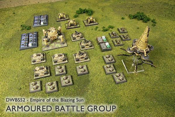 Dystopian Wars: (Empire Of The Blazing Sun) Armoured Battle Group
