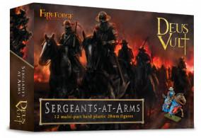 28mm Deus Vult: Mounted Sergeants At Arms (12)