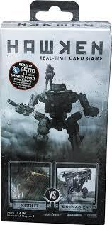 Hawken Real-Time Card Game: Scout vs Grenadier Deck
