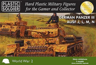 15mm WWII (German): Panzer III J,L,M,N Tank