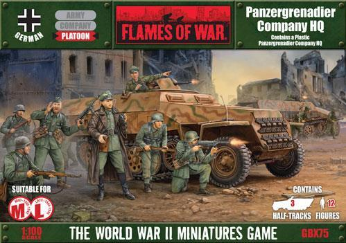Flames Of War (WWII): (German) Panzergrenadier Company HQ (plastic)