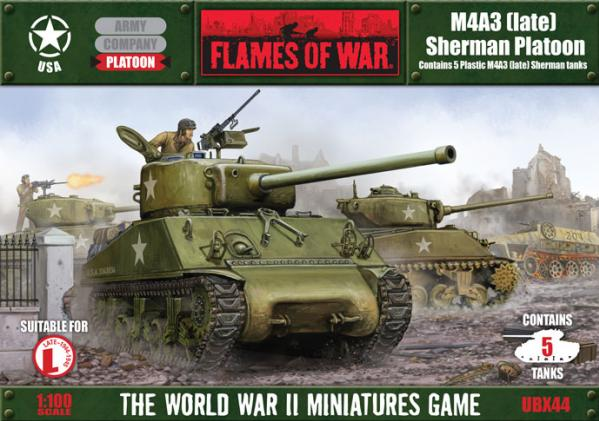 Flames Of War (WWII): (USA) M4A3 Sherman Platoon (plastic)