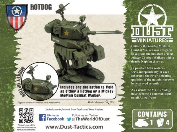Dust Tactics - Allies: Medium Assault  Walker - Mickey/Hotdog