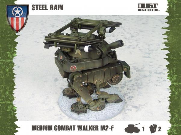 Dust Tactics - Allies: Medium Assault  Walker - Steel Rain