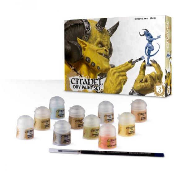 Supplies And Tools: Citadel Dry Paint Set