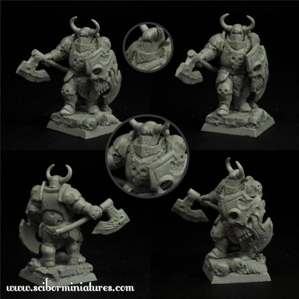 28mm Fantasy Miniatures: Barbarian Veteran #6
