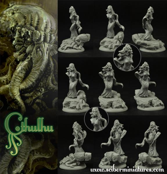 28mm Cthulhu Miniatures: Cthulhu Cultist #3