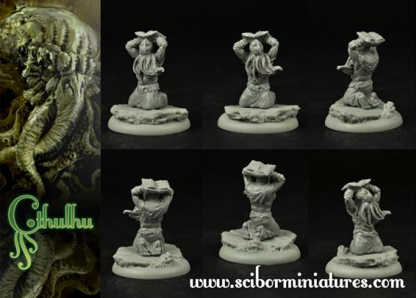 28mm Cthulhu Miniatures: Cthulhu Cultist #4