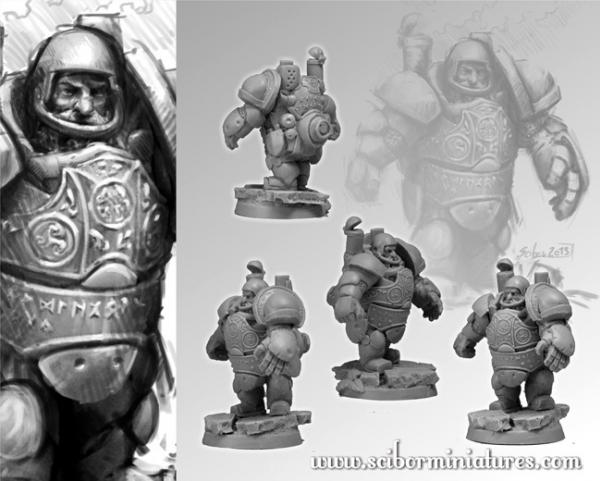 28mm Fantasy Football: 28mm/30mm Dwarf Steam Player #1