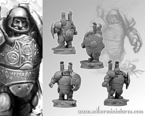 28mm Fantasy Football: 28mm/30mm Dwarf Steam Player #2