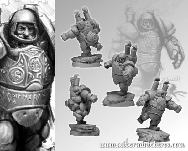 28mm Fantasy Football: 28mm/30mm Dwarf Steam Player #3
